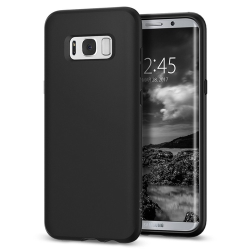 Galaxy S8 Case Liquid Crystal [Colour: Matte Black]