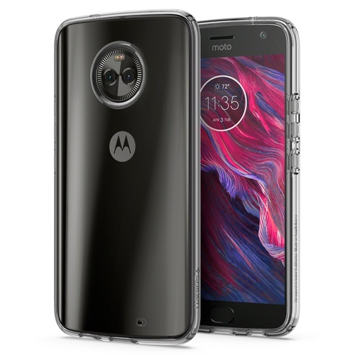 Moto X4 Case Liquid Crystal [Colour:Clear]