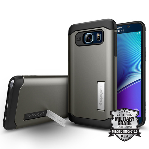 Galaxy Note 5 Case Slim Armor [ Colour : Gunmetal ]